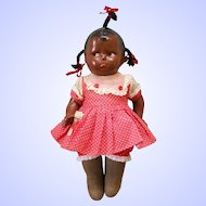 "10 1/2"" Rare Black Effanbee Baby Grumpy Grumpykins Doll with Slant Hip Toddler Body"