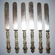 """Antique Wallace Eton 1903 Art Nouveau Sterling Old &New French Hollow Knife 9"""" Monogrammed """"B"""""""