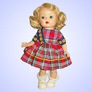 """8"""" Nancy Ann Strung Blonde Muffie Doll A/O In Box"""