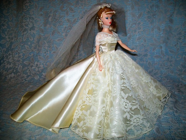 Barbie Wedding Dress.Halina S Doll Fashions Of Chicago Barbie Wedding Gown And Veil 900