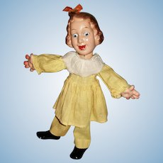 """12"""" Ideal Fanny Brice as Baby Snooks Flexy Doll 1938"""
