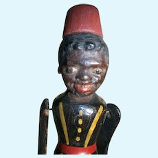 Vintage Folk Art Black Dancing Jig Doll Toy