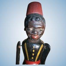 Vintage Folk Art Black Dancing Jig Doll Toy