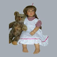 Neblina Annette Himstedt Signed Faces of Friendship Doll 2726 1991-2 Orig. Boxes Cert.