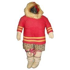 "Excellent Vintage 11 1/2"" Inuit Woman Doll"