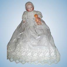 German Bisque BYE-LO BABY,  Fabulous Gown! Original Body