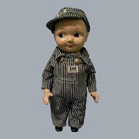 "Vintage 12 1/2"" Plastic Buddy Lee Engineer Advertising Doll Plus 2nd Outfit"