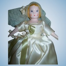 "Godey's Little Lady Doll by Ruth Gibbs, ""June Play Friend No. 506 P,""  Booklet, Original Stand"
