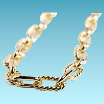 Tiffany & Co. Exquisite Vintage Anchor Link Bracelet, 14k Yellow Gold