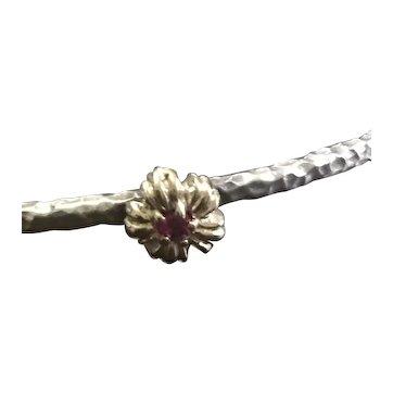 Ruby Birthstone Bangle Bracelet