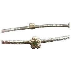Peridot Birthstone Bangle Bracelet