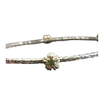 Peridot Birthstone Bangle Bracelet