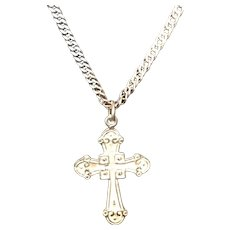 Vintage Necklace and Cross Pendant