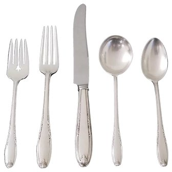 Leonore By Manchester Sterling Flatware 5 Piece Place Setting Replacement Flatware No Monogram