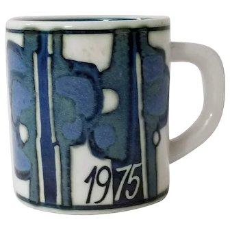Royal Copenhagen Fajance Annual Mug 1975 Small Mug