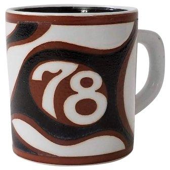 Royal Copenhagen Fajance Annual Mug 1978 Small Mug