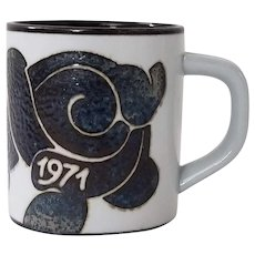Royal Copenhagen Fajance Annual Mug 1971 Small Mug