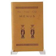 The Friday Club Menus 1977 3rd Ed. Yarmouth, MA Cape Cod Cookbook
