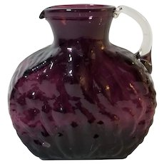 "Pilgrim Glass Purple Amethyst Glass ""Nugget"" Pitcher"
