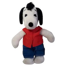 Celebrity Snoopy Mr. T  Plush Mohawk Doll, Peanuts 1980's