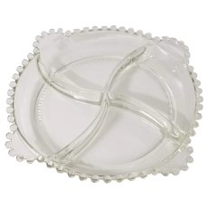 Imperial Candlewick Clear Four Part Divided Relish Dish