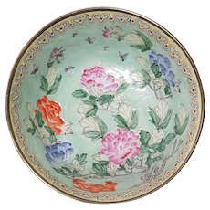 """Tongzhi Apocryphal Chinese Porcelain Hand-Painted 10"""" Bowl"""