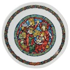 D'arceau Limoges Christmas Plate NOEL VITRAIL L'Adoration Des Rois