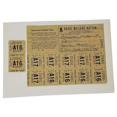 Gas Ration Coupons,  Basic Mileage Ration, 1938 Pontiac