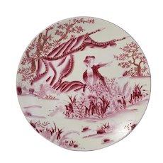 Oriental Accent Decorative Plate Geisha Girl
