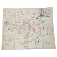Glasgow Corporation Transport Services Brochure / Map, E.R.L. Fitzpayne