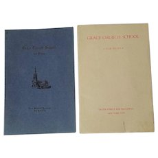 Grace Church School For Boys Brochures / School Calendars (1937-1938) And (1939-1940) NYC Prep School.