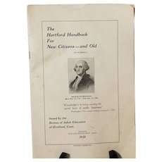 The Hartford Handbook For New Citizens And Old 1932, Connecticut