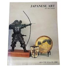 Japanese Art At Auction: August 22 & 23, 1983 Eldreds Auctioneers, East Dennis, MA