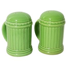 Lime Green Salt & Pepper Shakers, Mid Century Modern, Japan