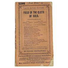 Field Of The Cloth Of Gold By William Brough,  Lacy's Acting Edition 1868