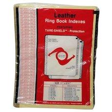 Kleer-Fax Leather Binder Tabs 1-31 Vintage Office Supplies