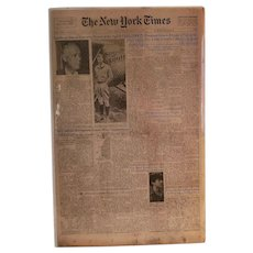New York Times, Tuesday August 27, 1974 Lindbergh Dies, Portuguese Guinea Wins Independence