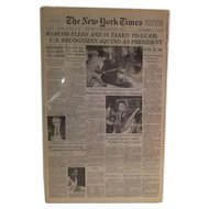 The New York Times February 26, 1986 Marcos Flees And Is Taken To Guam; U.S. Recognizes Aquino As President