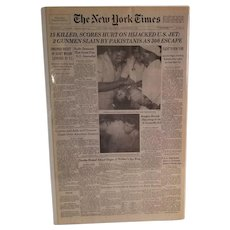 The New York Times Saturday September 6, 1986  15 Killed, Scores Hurt On Hijacked U. S. Jet