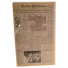The New York Times Friday September 2, 1983   U. S. Says Soviet Downed Korean Airliner,  Reagan Denounces 'Wanton' Act