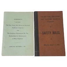 The New York New Haven and Hartford Railroad Company, 1943 & 1949 Employee Safety Rules