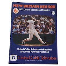 New Britain Red Sox 1983, Official Scorebook Magazine