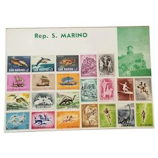 Rep. S. Marino Stamps, Set of 22 Unused Vintage Stamps