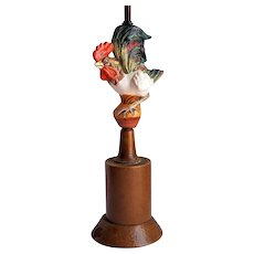 Italian Ceramic ROOSTER Table Lamp