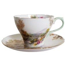 Shelley Heather 13419 Teacup & Saucer Fine Bone China England