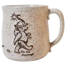 Bear Of Terrible Mountain, Weston VT 1986 Studio Pottery Mug, Susan Leader Artist