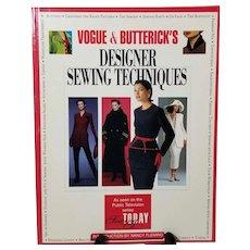 Vogue & Buttericks Designer Sewing Techniques, Book 1994