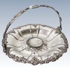 Antique Derby Silver Co. Quadruple Plate Bride's Basket