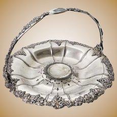 Antique Derby Silver Co. Quadruple Plate Bride's Basket