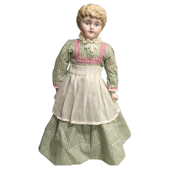 """Vintage dress with apron for app 13"""" doll"""